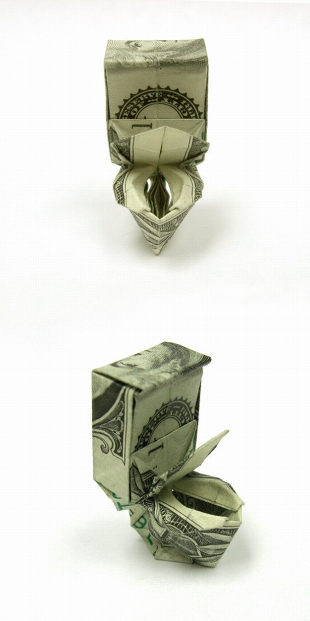 Оригами из мировой валюты